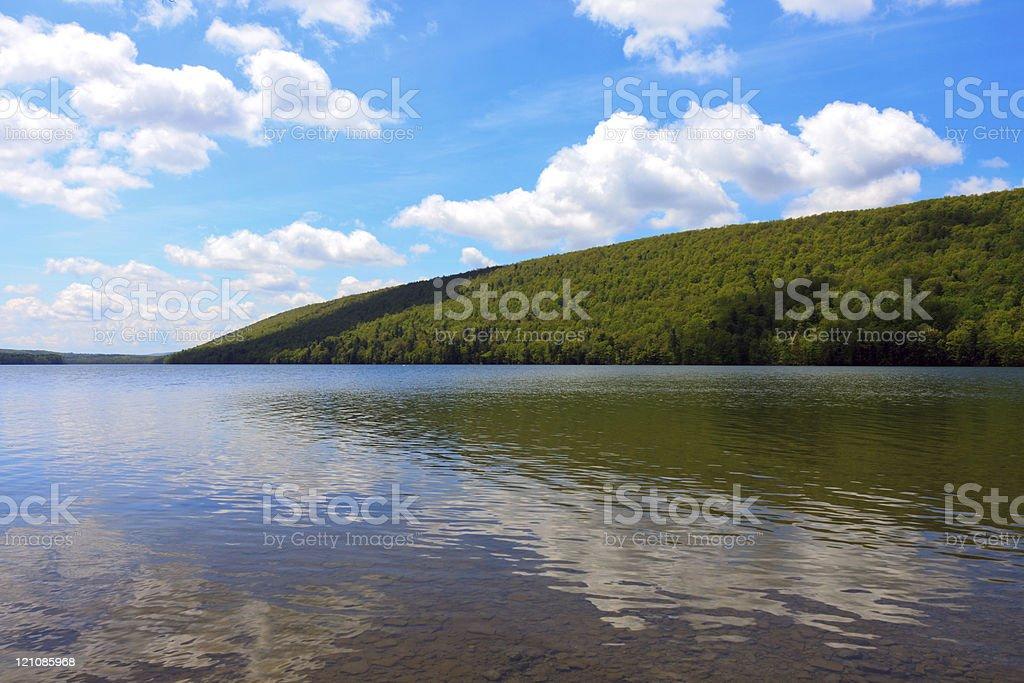 DSLR image of Canadice Lake, a Finger Lake, stock photo