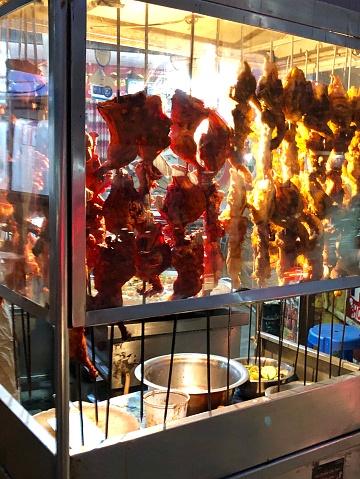 Image Of Chicken Tikka Kebabs Indian Street Unhygienic Food
