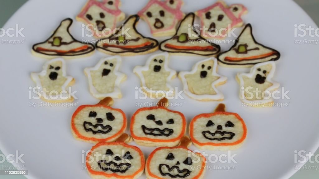 Stock photo showing children\'s Halloween party themed food ideas....
