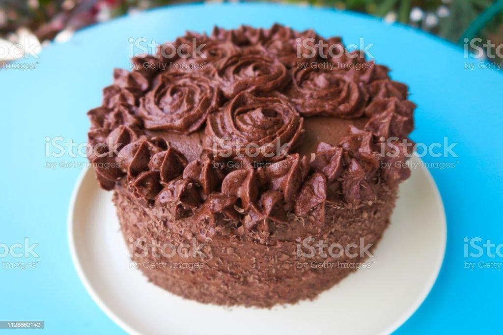 Foto De Imagem Do Bolo De Chocolate Esponja Bolos Floresta