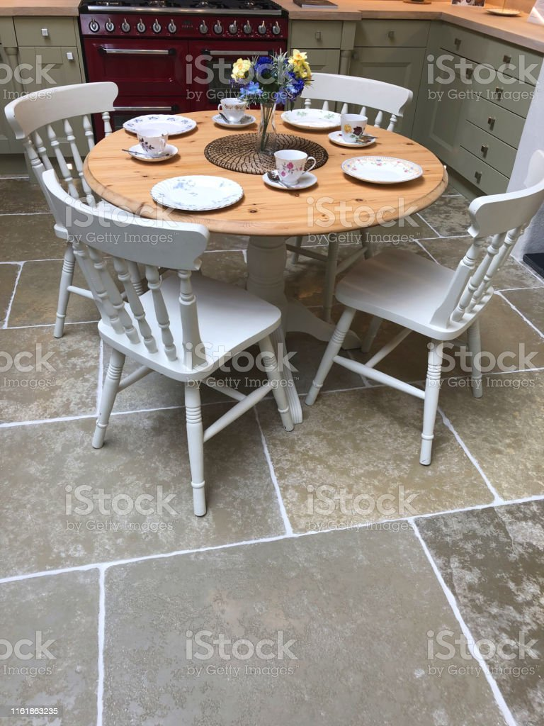 Incredible Image Of Circular Round Pine Dining Kitchen Table With Four Lamtechconsult Wood Chair Design Ideas Lamtechconsultcom
