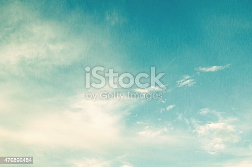 image of clear sky on day time in fiber filtered and vintage style
