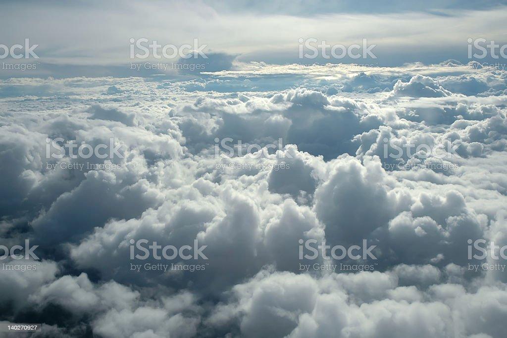 Über den Wolken Lizenzfreies stock-foto