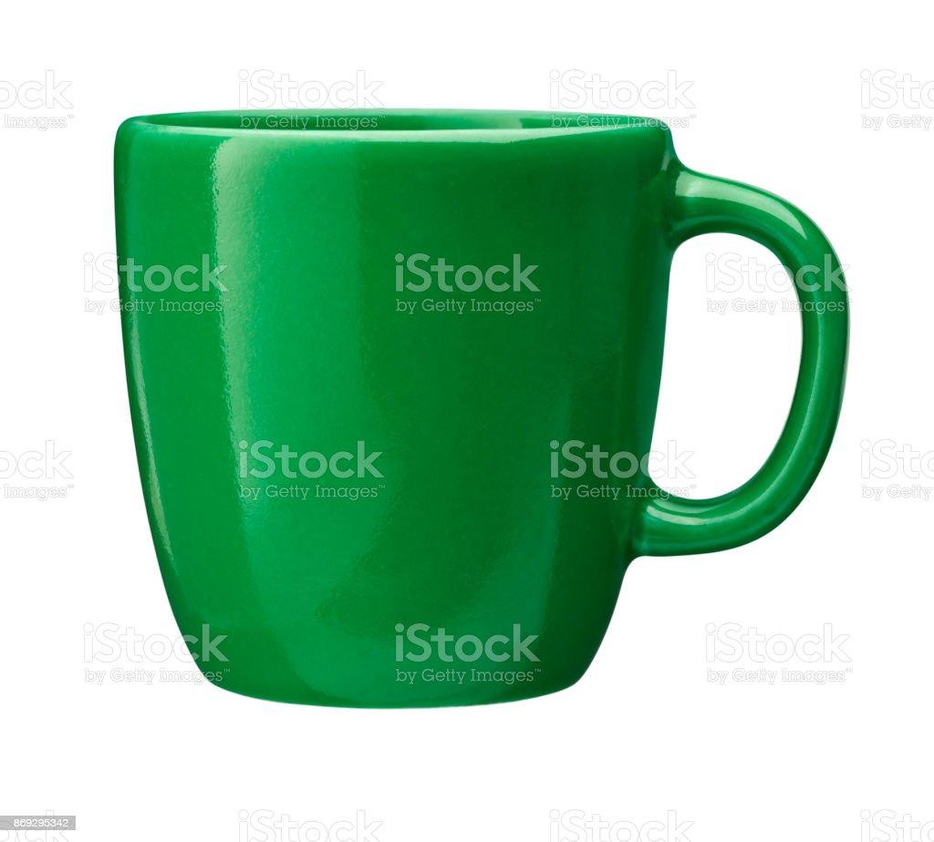 Bild der Kaffeetasse mit Beschneidungspfad isoliert – Foto