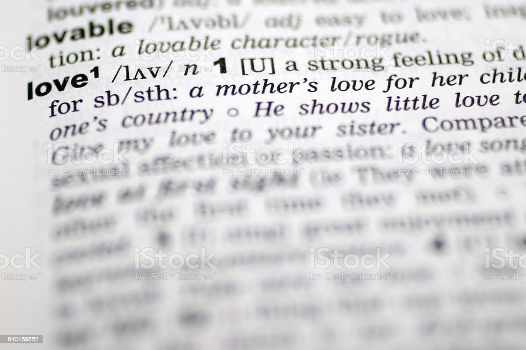 Image Of Dictionary Word Love Royalty Free Stock Photo