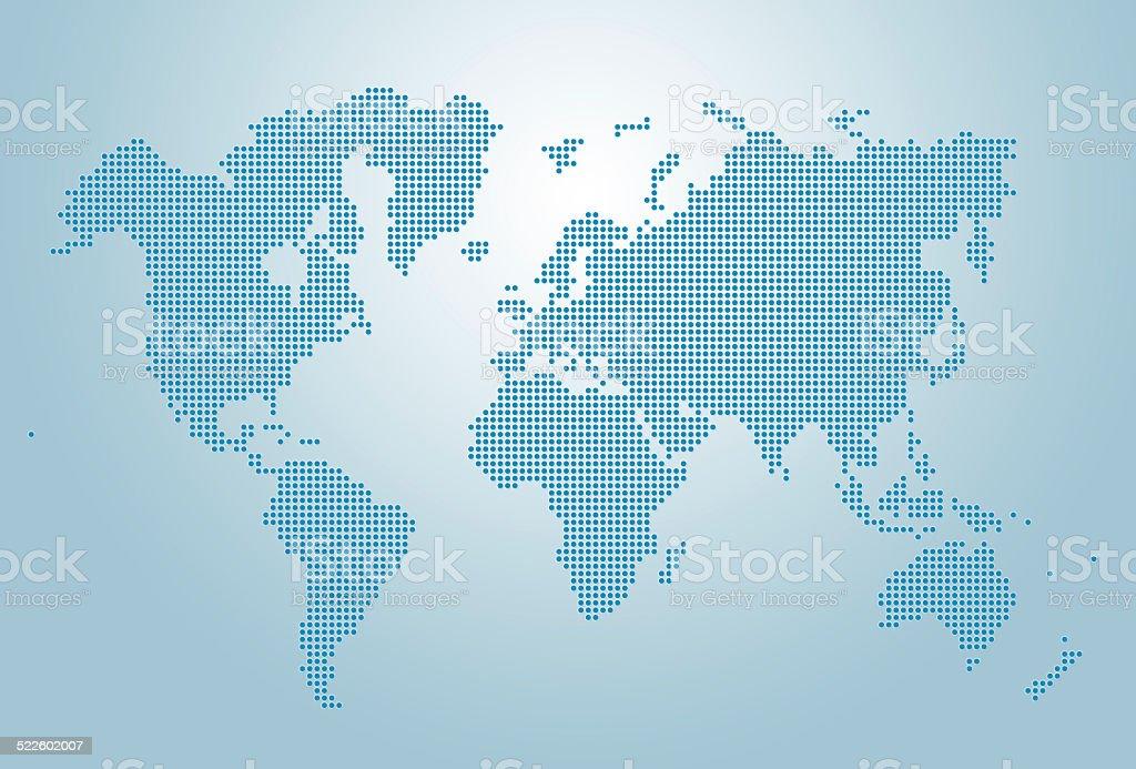 Image of dotted world map illustration stock photo