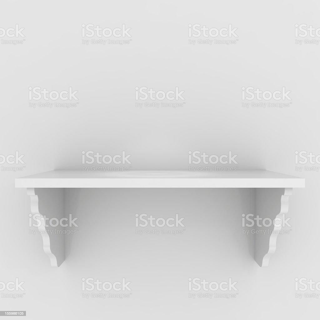 Image of empty white shelf with nothing on it royalty-free stock photo
