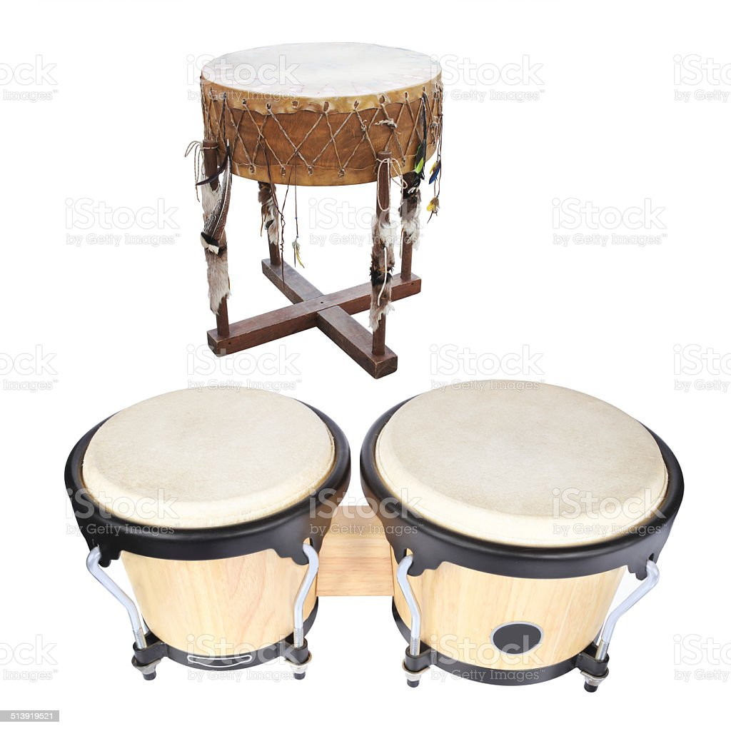 image of ethnic african drum stock photo