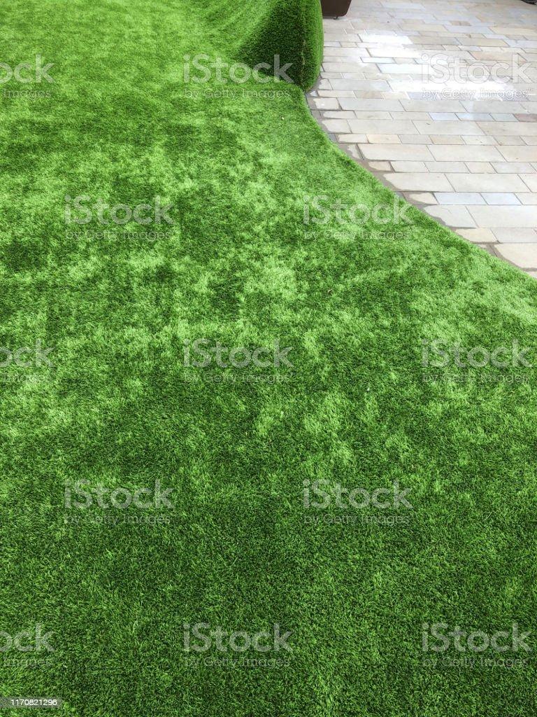 Astro Turf Garden >> Image Of Fake Plastic Artificial Grass Turf Astroturf In