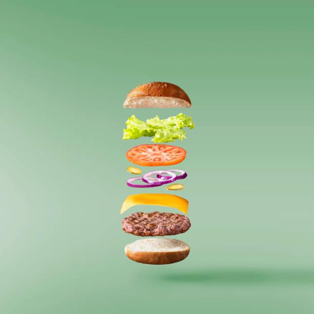 bild der frische leckere burger - gemüselaibchen stock-fotos und bilder