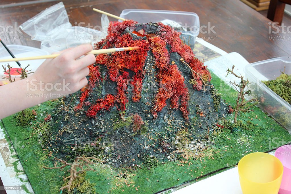 how to build a volcano for school project