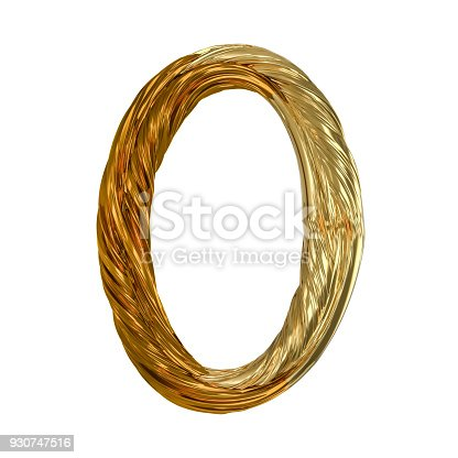 istock Image of gold color alphabet isolated on white. 3D 930747516