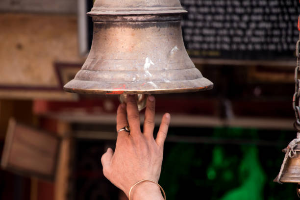 Image Of Hanging Ringing Bell In Temple Gate Stock Photo ...