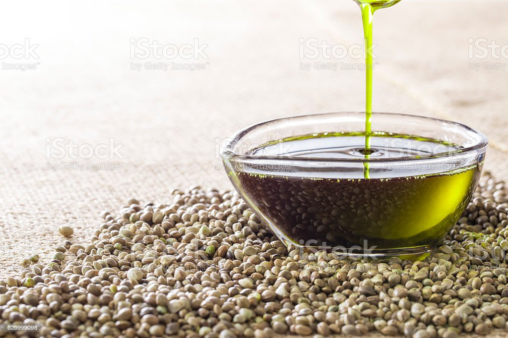 Image of hemp oil foto royalty-free