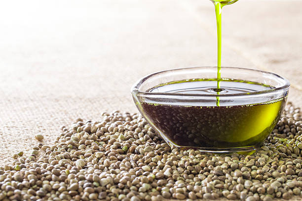 Image of hemp oil stock photo