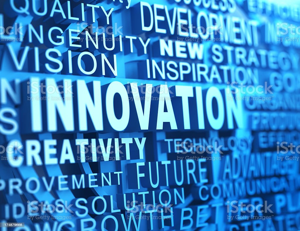 Image of innovation at the center of other words royalty-free stock photo