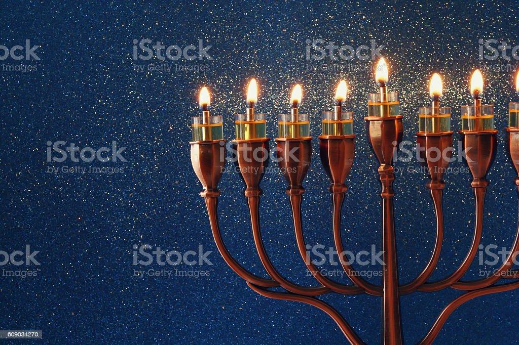 Image of jewish holiday Hanukkah background stock photo