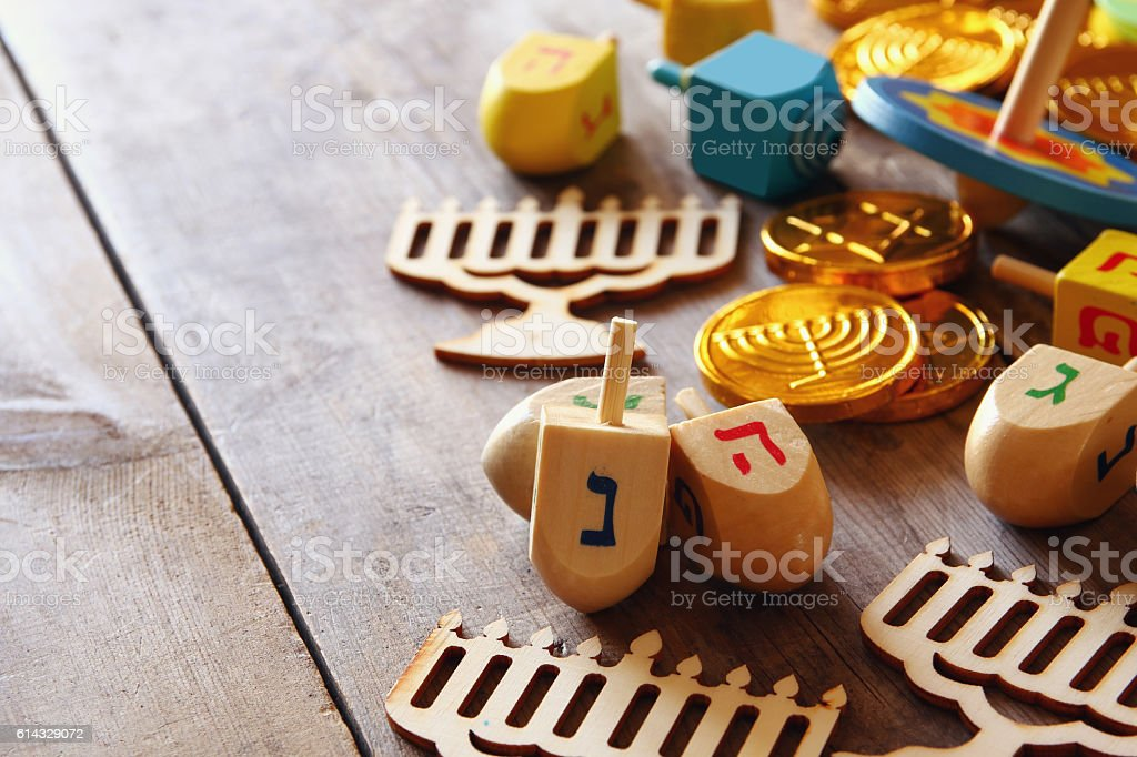 Image of jewish holiday Hanukkah background - foto de stock