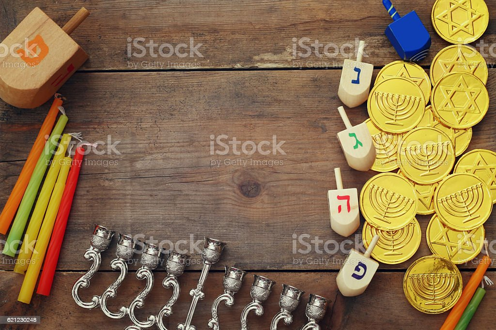 Image of jewish holiday Hanukkah stock photo