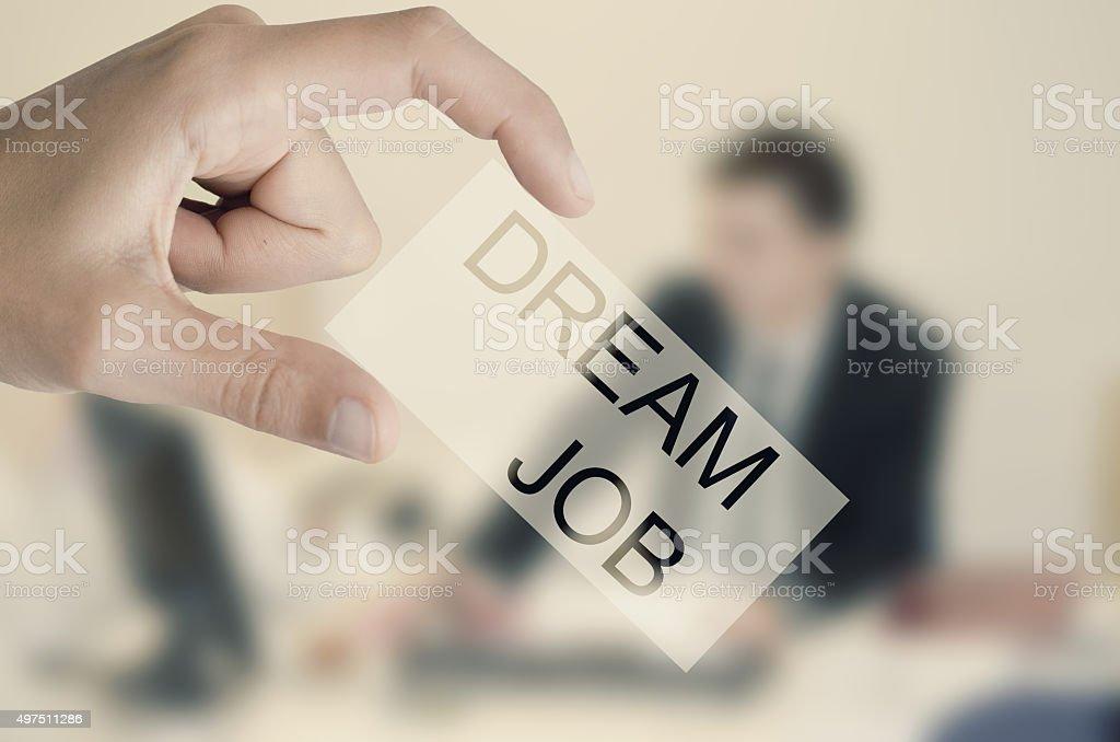 Image of job concept stock photo