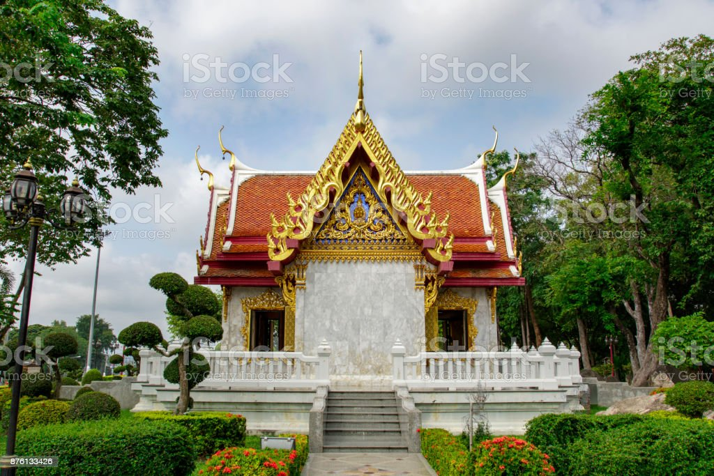 Image of king Taksin in Tak Province in thailand. Who established Thonburi as the new capital city. stock photo