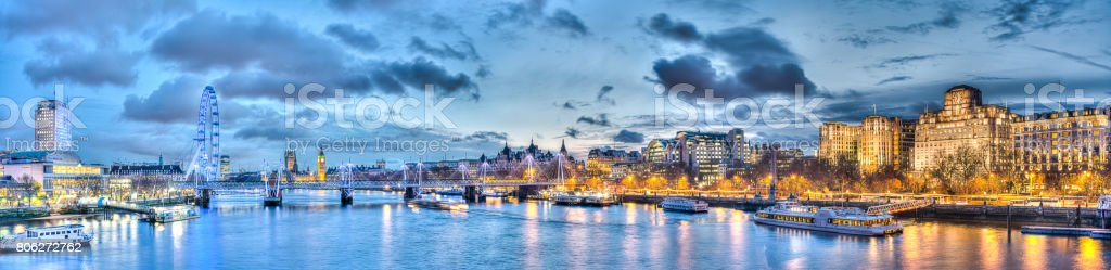 HDR Image of London and the Thames stock photo