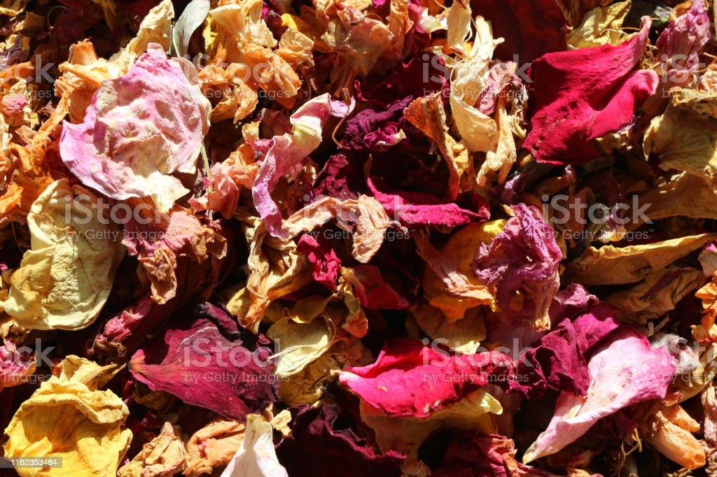 Stock photo of luxury natural biodegradable confetti petals and dried...