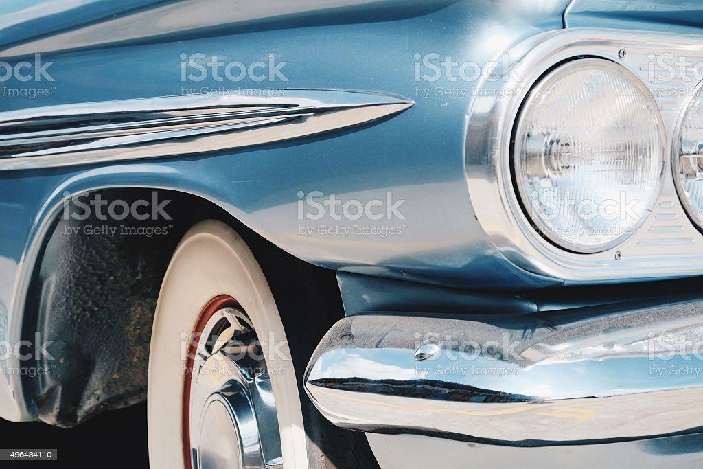 image of Luxury vintage car side stock photo