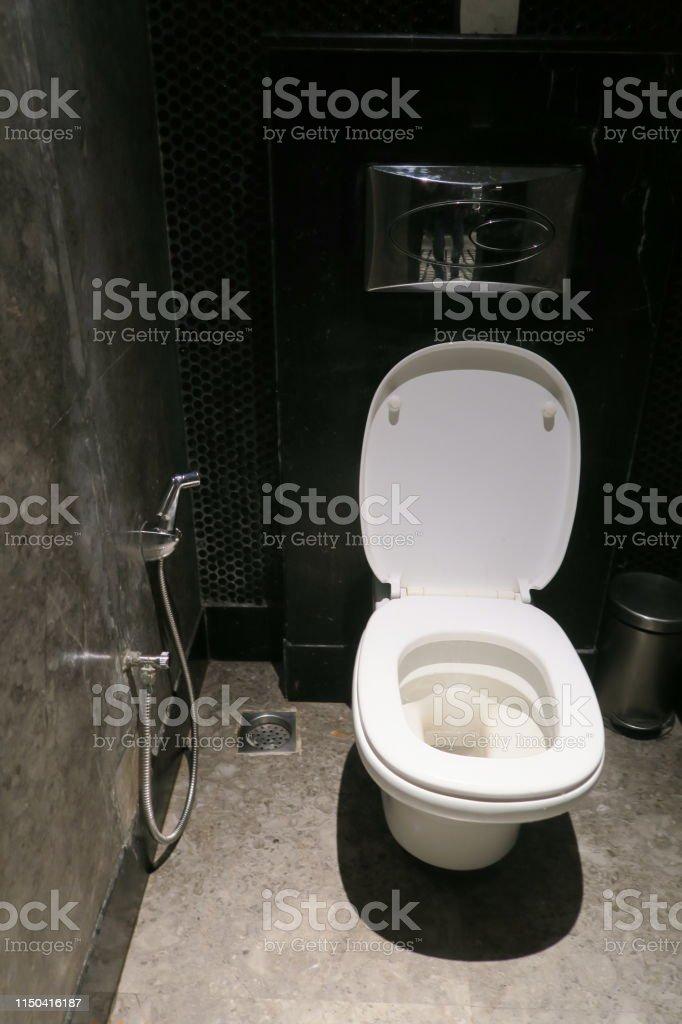 Imagen De Lujo Indio Blanco Inodoro Con Bano Higiene Moderna Ducha