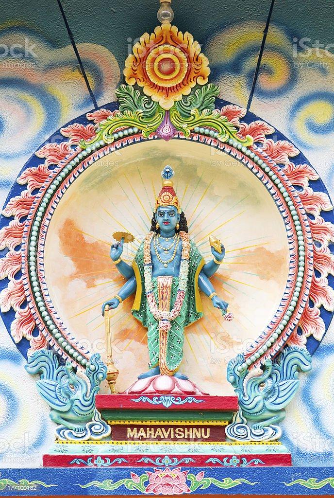 Image of Mahavishnu at Hindu temple stock photo