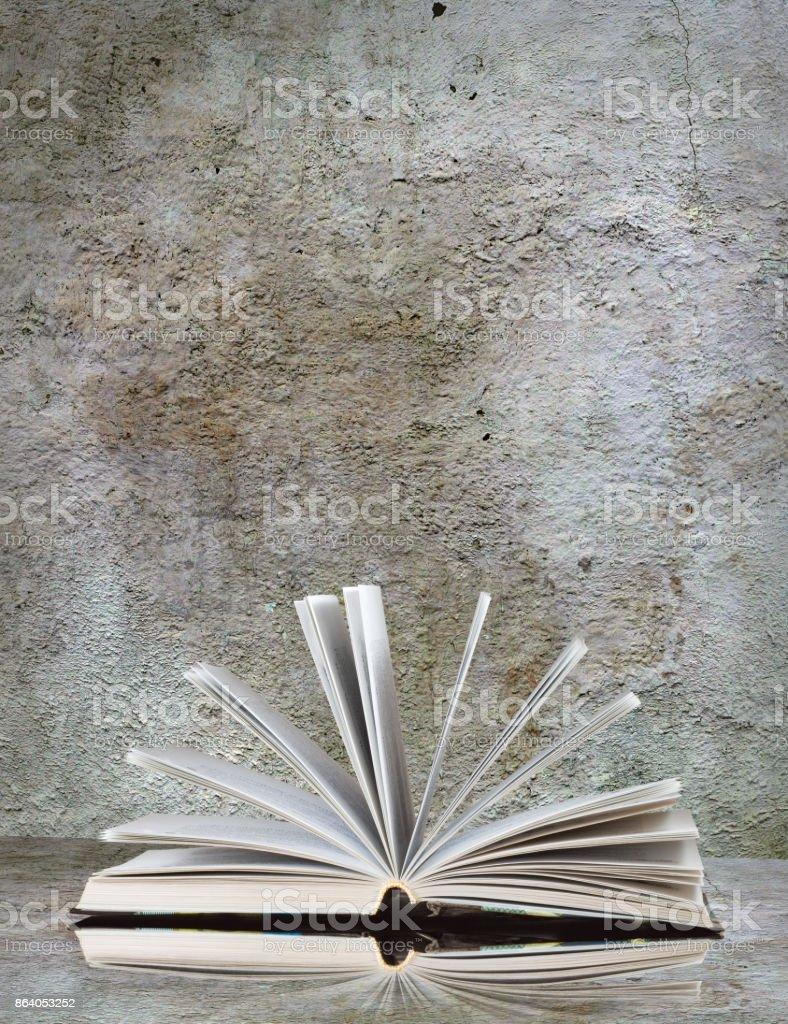 image of many books close-up stock photo