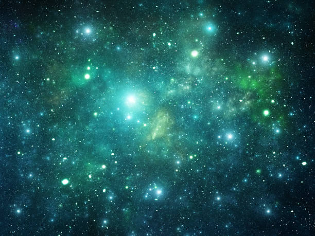 Image of many stars in the universe stock photo