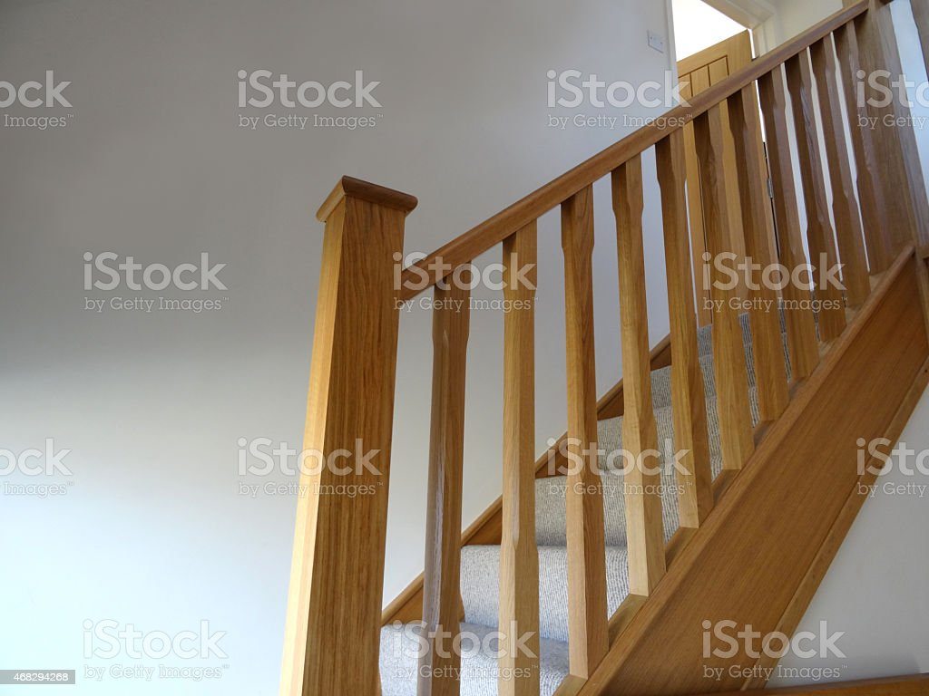 Image Of Modern Lightoak Stair Spindles Wooden Staircase Balusters  Balustrades Stock Photo 468294268 | IStock
