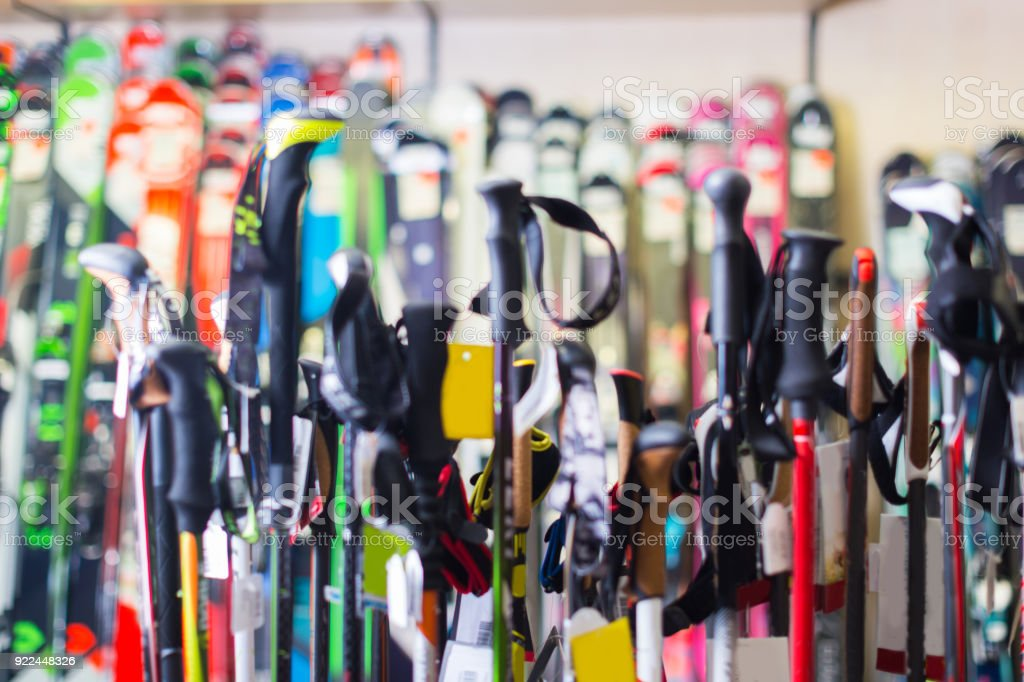 Image of modern skis stock photo