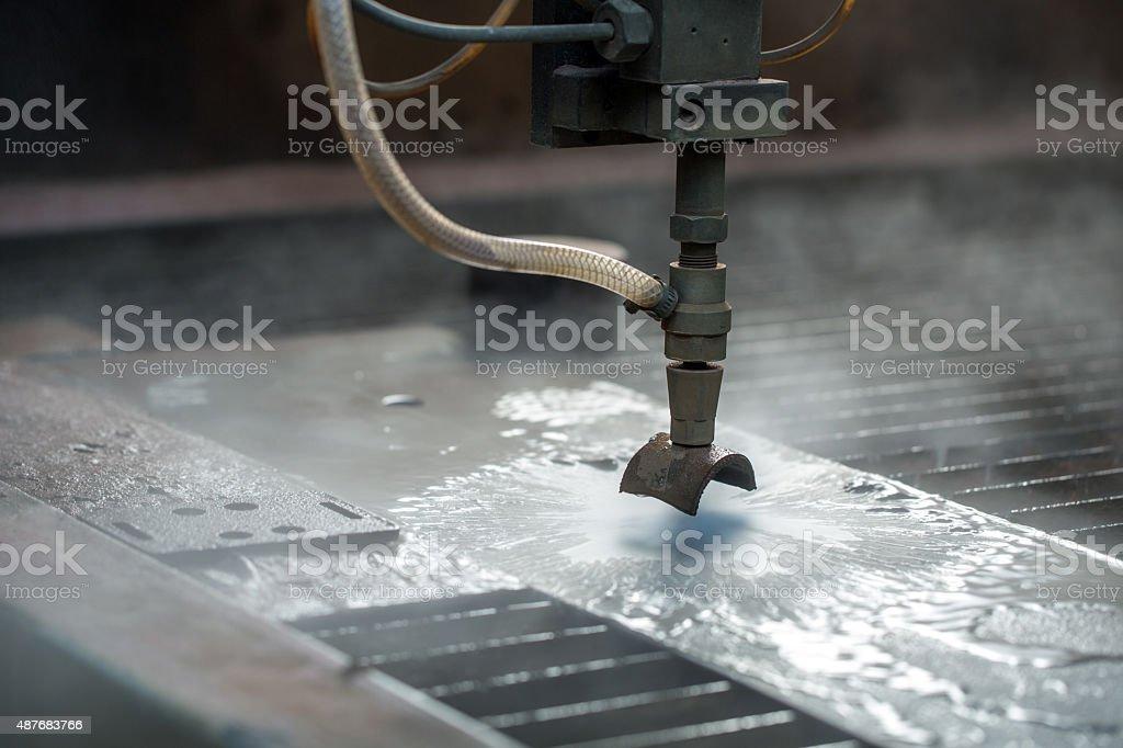 Bild des modernen waterjet innovativen Maschine für Metall – Foto