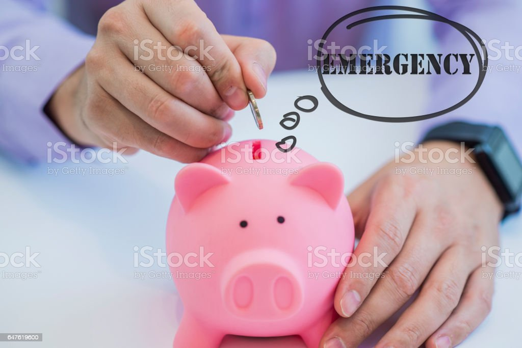 image of money saving for emergency stock photo