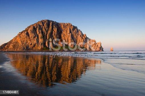 Sunrise on Morro Rock in CA