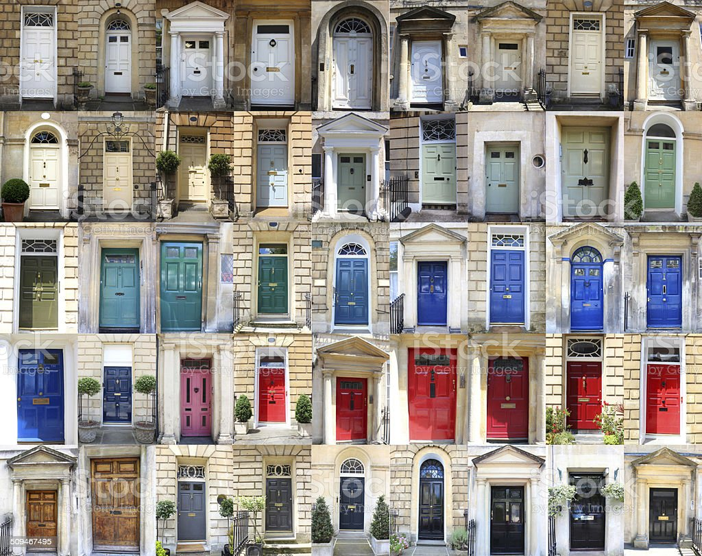 Image of multiple front doors collage / Georgian townhouse doors colours royalty-free stock & Image Of Multiple Front Doors Collage Georgian Townhouse Doors ...