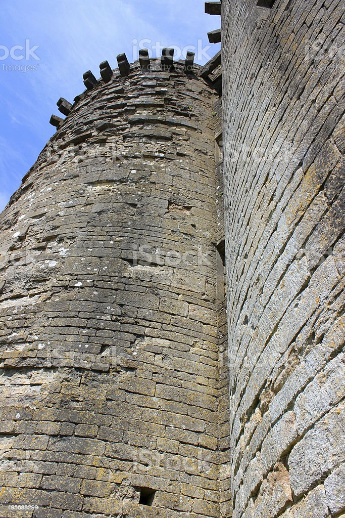 Image of Nunney Castle ruins, near Frome, Somerset, England, UK stock photo