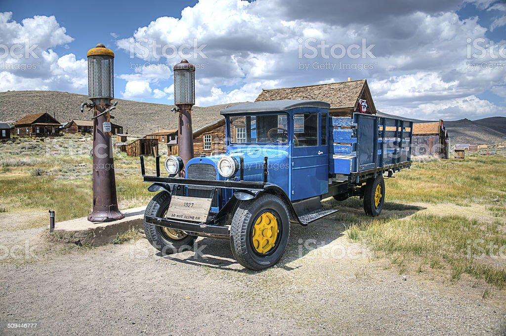 HDR Image of old 1927 truck Bodie Ghost Town California stock photo