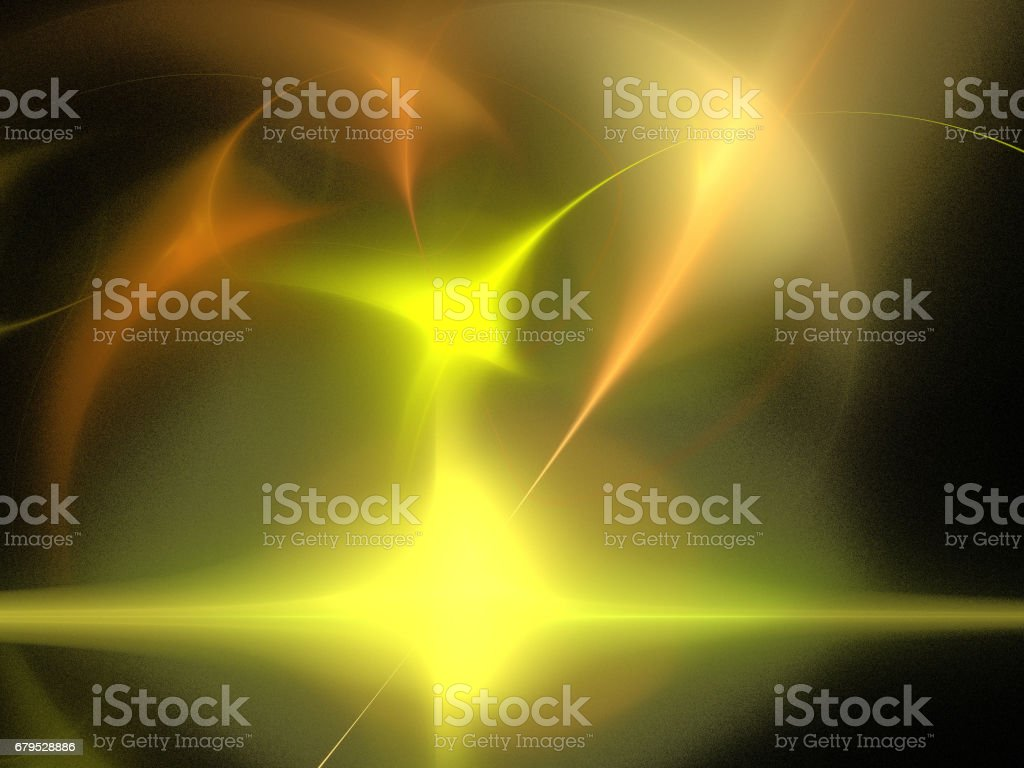 image of one Digital Fractal on Black Color royalty-free stock photo