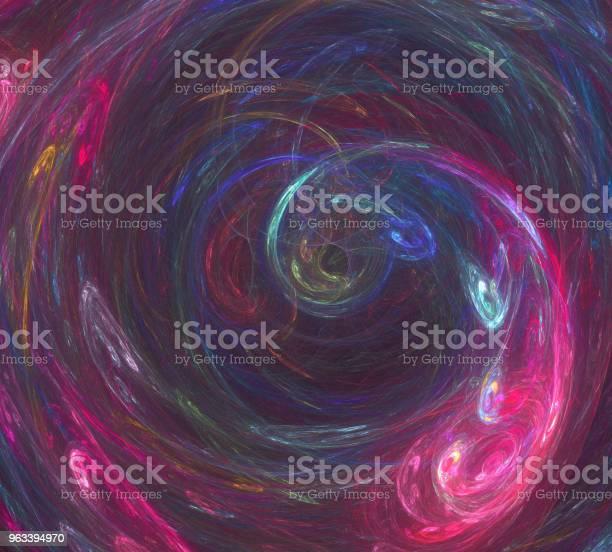 Obraz Jednego Digital Fractal Na Czarny Kolor - zdjęcia stockowe i więcej obrazów Abstrakcja