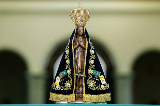 Image of Our Lady of Aparecida - Statue of the image of Our Lady of Aparecida stock photo