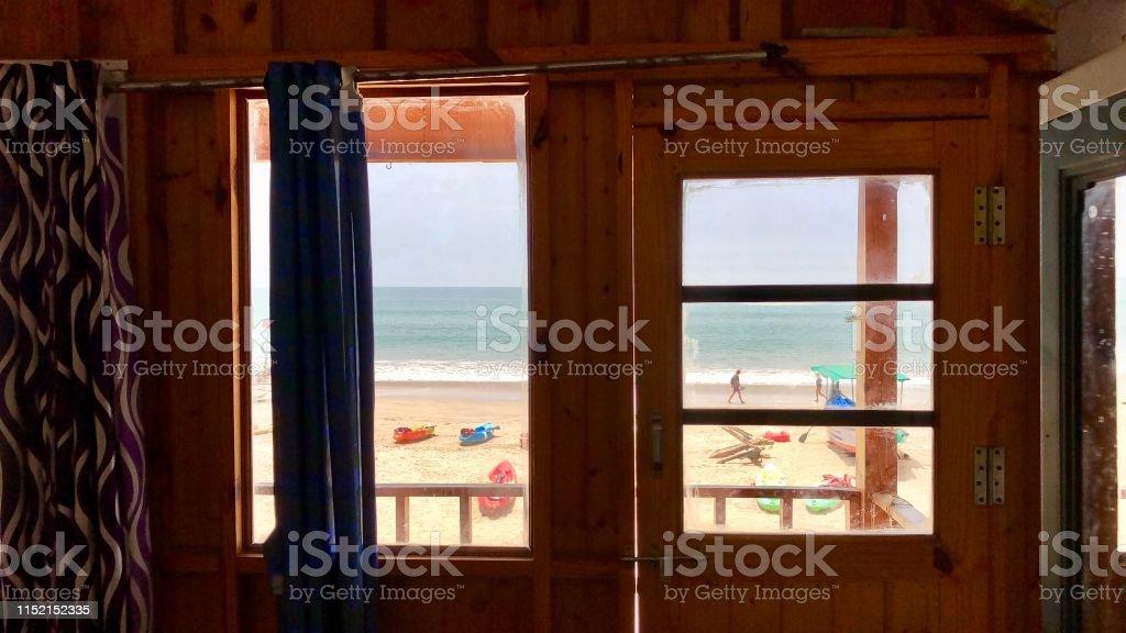 Imagen De Palolem Beach Cabaña Y Vista Al Mar Desde La Alta