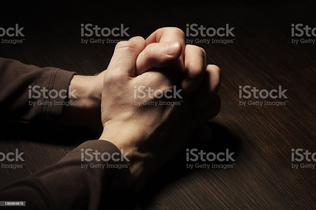 Image of praying hands royalty-free stock photo