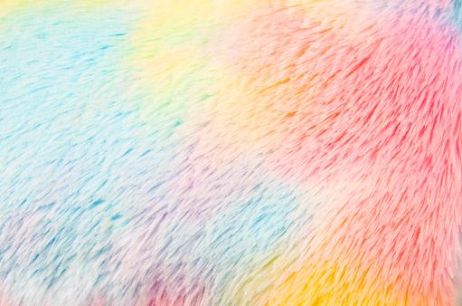 image of rainbow plush background