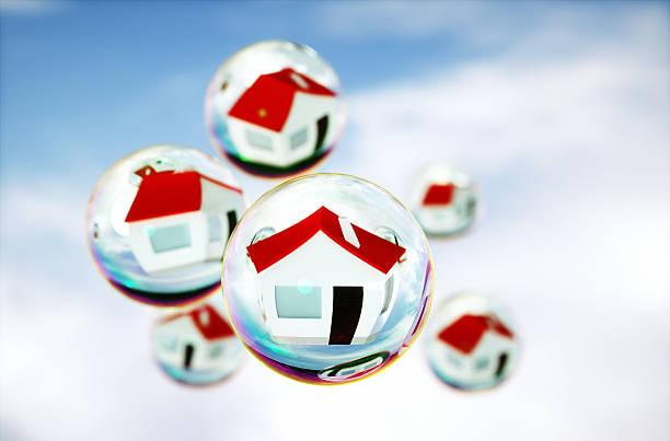 3 D imagen de real-estate de burbujas (interno) - foto de stock