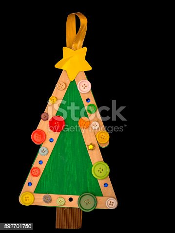 istock image of recycled christmas tree 892701750