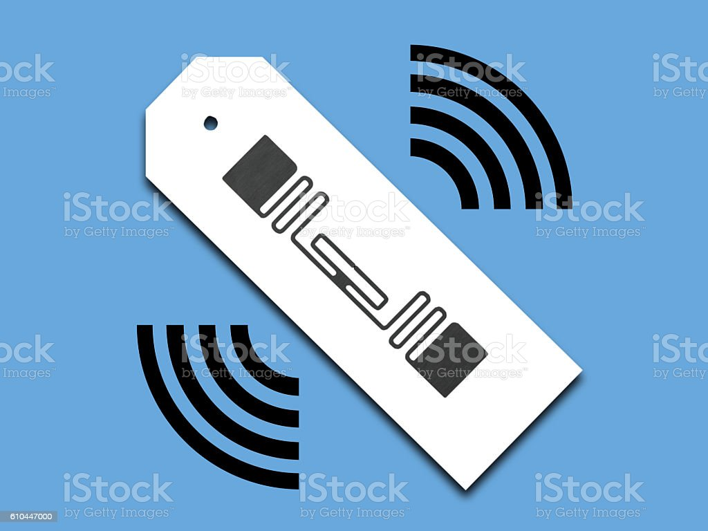 Image of RFID tag in distribution industry stock photo