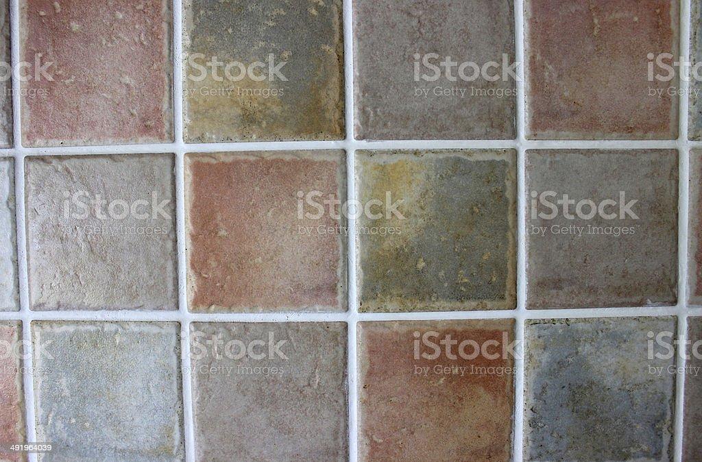 Immagine di piastrelle in cucina rustica quadrato grigio arancione